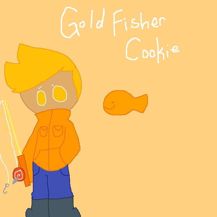 Gold Fisher Cookie