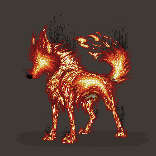 Elemental Wolf of Fire