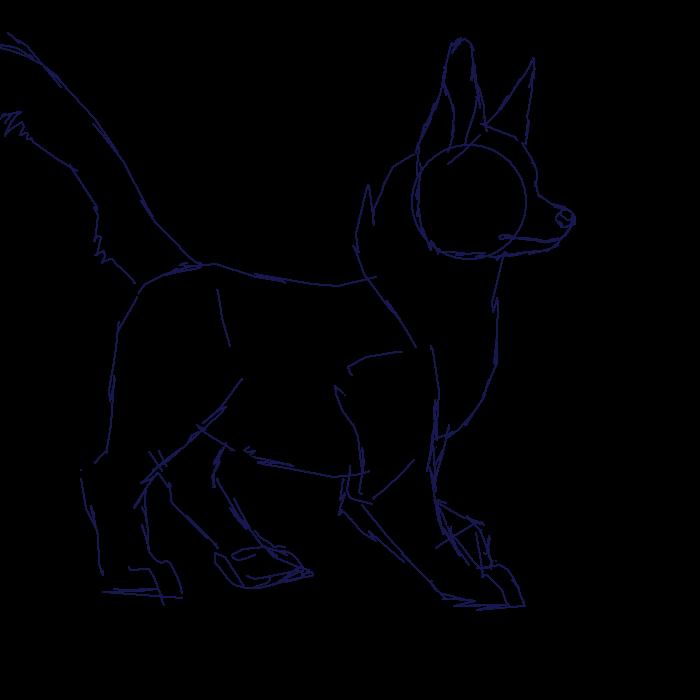 Chihuahua Walk Cycle Sketch