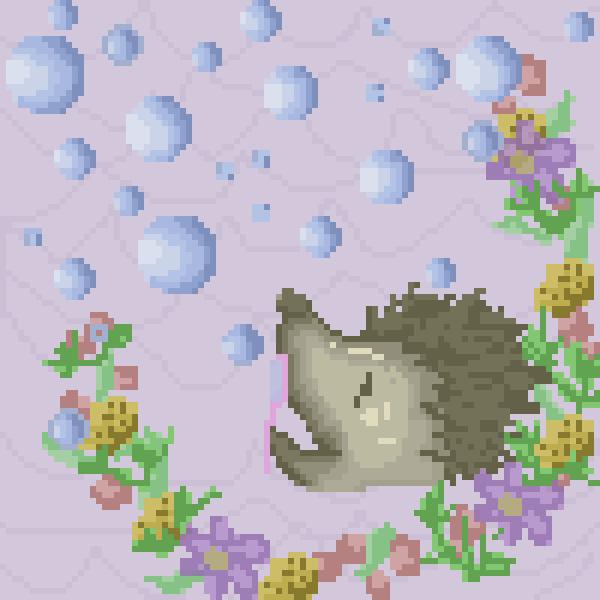 porcupine blowing bubbles