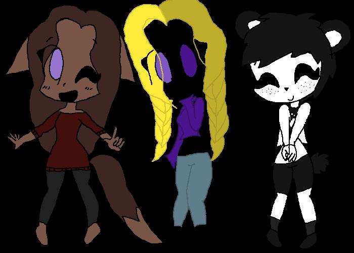 Luna, Lily, and Pan Pan