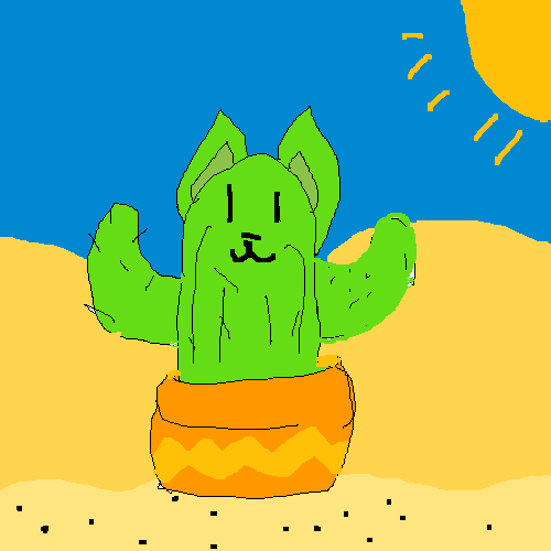 its either a cat cactus or a doge cactus