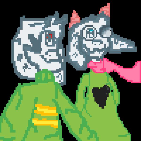 two fluffy boi :3