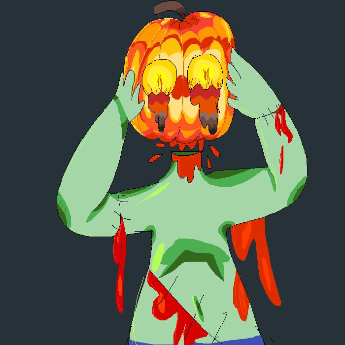 Pumpkin zombie thing