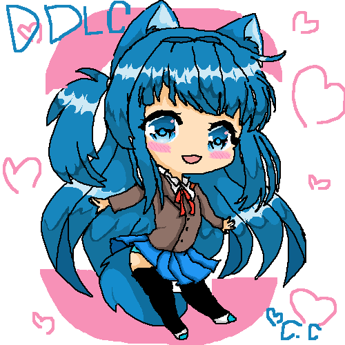 DDLC Paint shes so damn cute X3 (sub special)