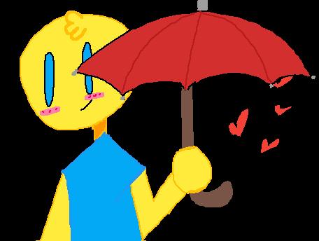Here take the umbrella