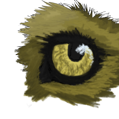 another wolf eye this one i tried harder tho XD