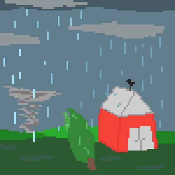 Rain and tornado