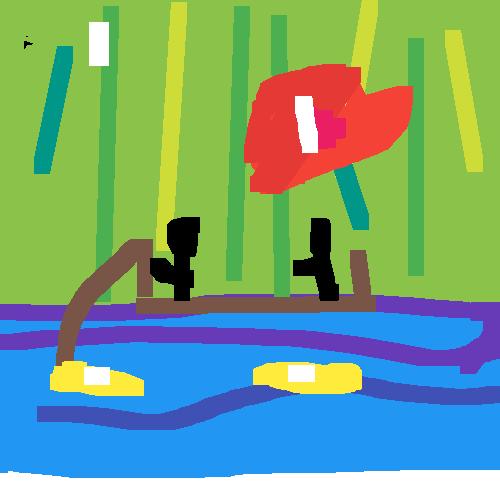 kifogja a halat a pálcika ember
