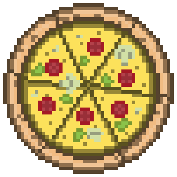 So I drew pizza.