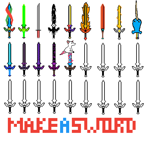 Make your own sword mine is the purple blue deep purple