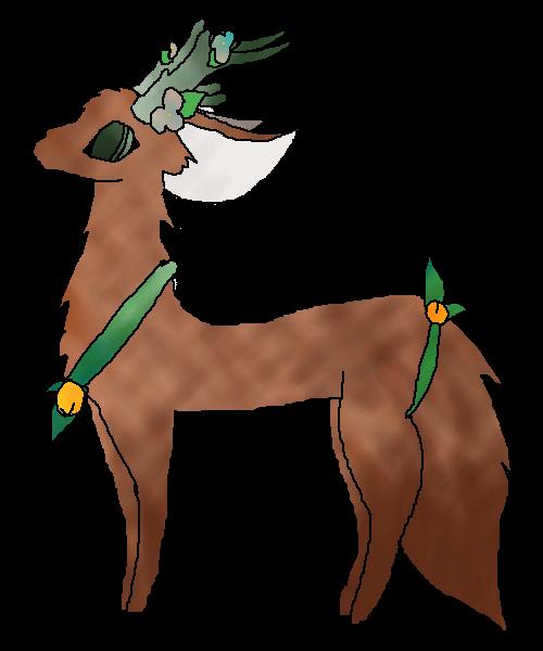 Textured deer