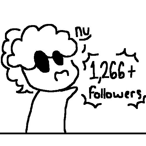 1,266+ Followers?! Man, STOP FOLLOWING ME! >///<