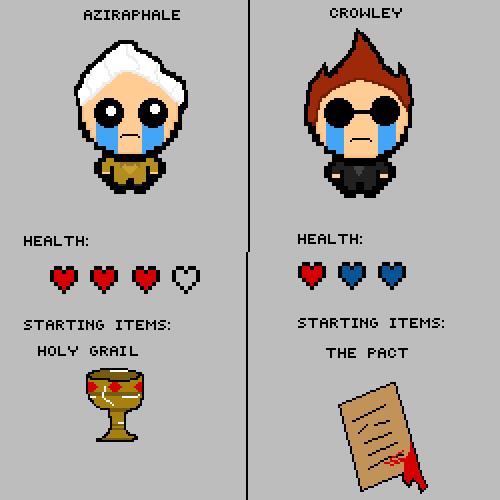 Crowley & Aziraphale in TBOI
