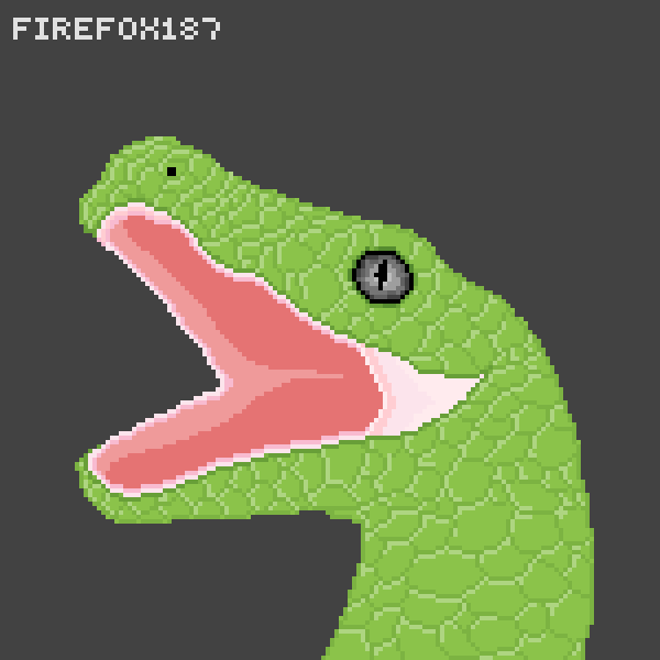 Fang-less green Snake