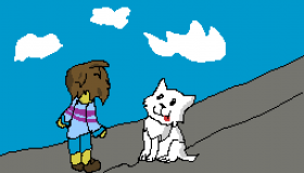 the annoying dog meets frisk