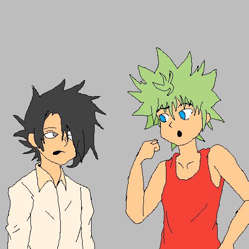 Anime people be like vs Rl im the black hair one