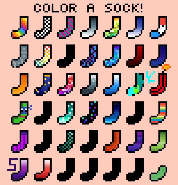 colour one sock