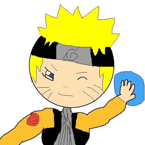 Naruto with a rasengan