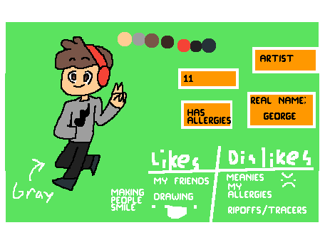 Meet the artist! :D