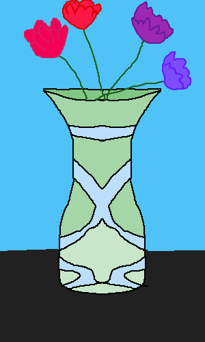 Vase with flowers-attempt at a still life
