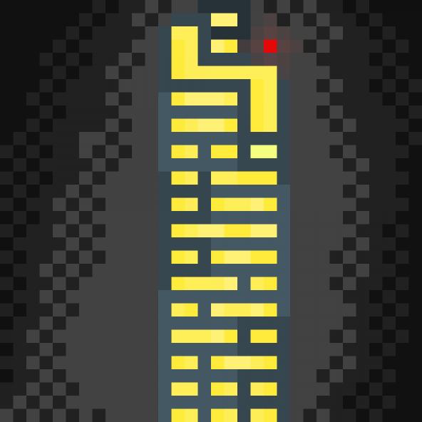 smoggy city skyscraper