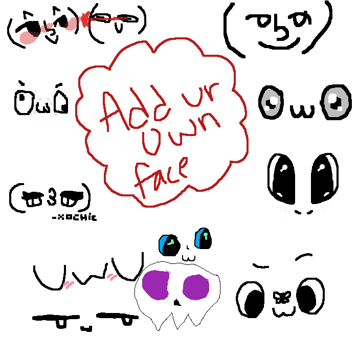 Add a face.