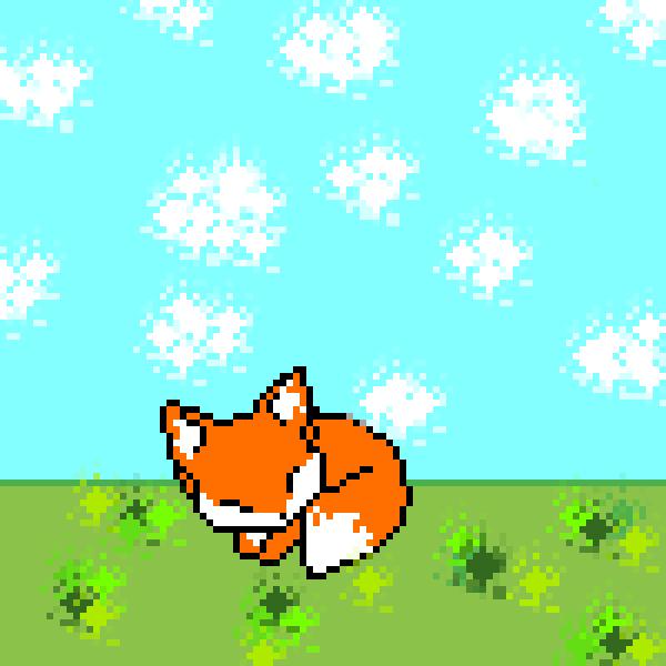 cute sleeping fox
