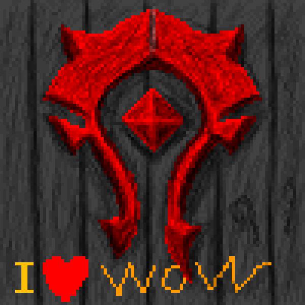 Wow logo horde