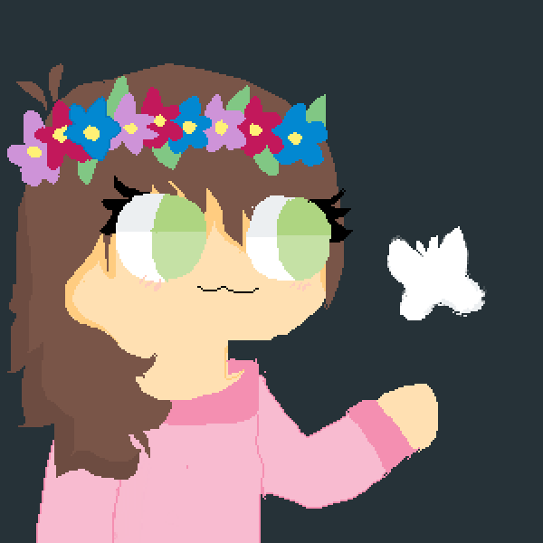 Girl With A Butterfly UwU