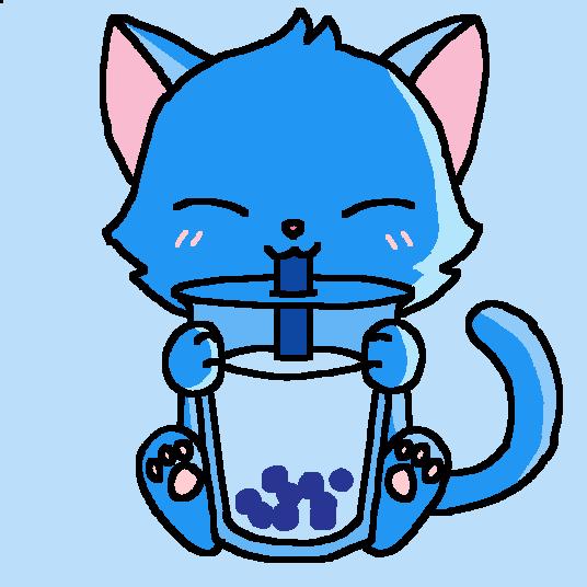 Ice Kitty drinking