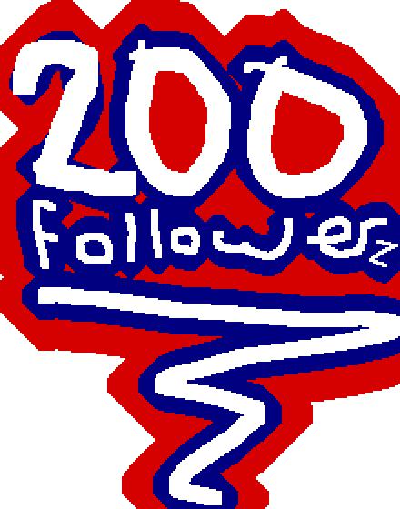 thx for 200+ followers!!!!!