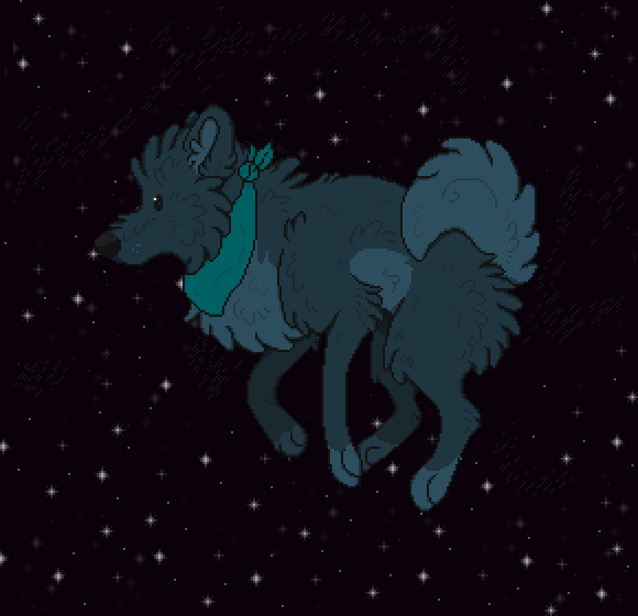 A Fluff in Space -gift art-