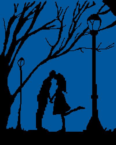 Silhouette Love Scene (100th Drawing!)