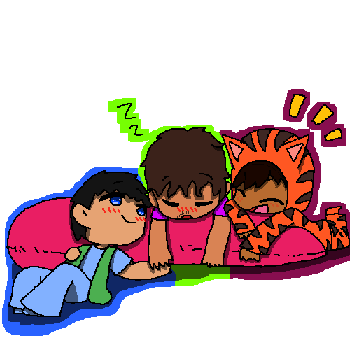 (Umbrella Academy) --- Dave, Klaus, & Ben