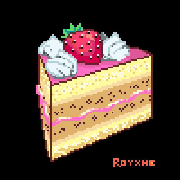 Strawberry Cake floating