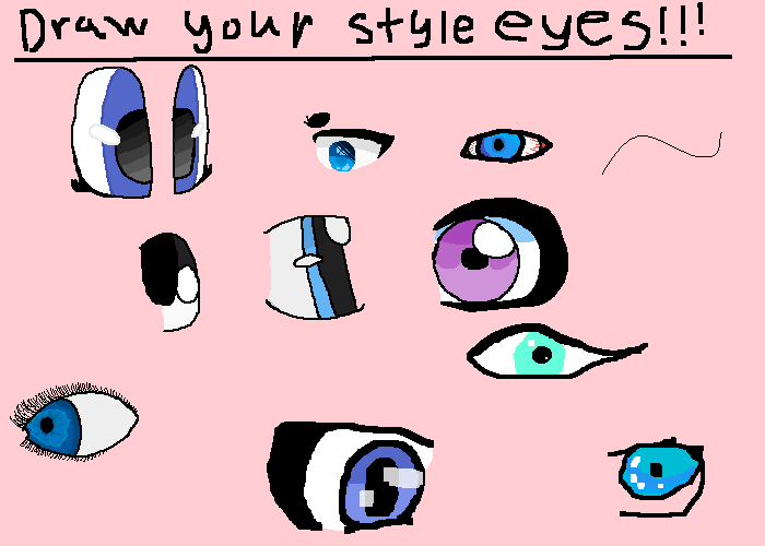 draw your style eyes