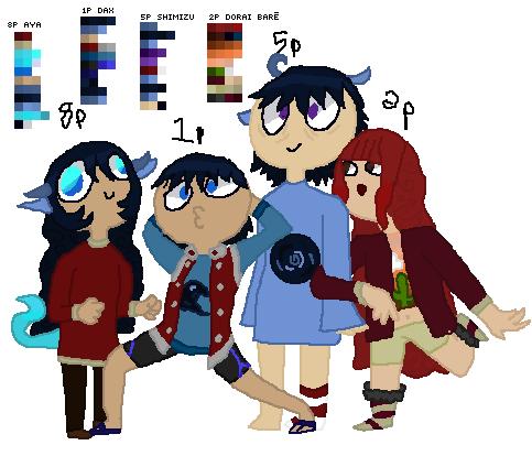 Aya, Dax, Shimizu, and Dorai Bare.