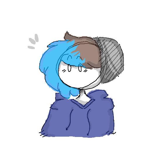 bluu's blue-colored blue hair