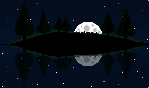 Moon Over a Lake