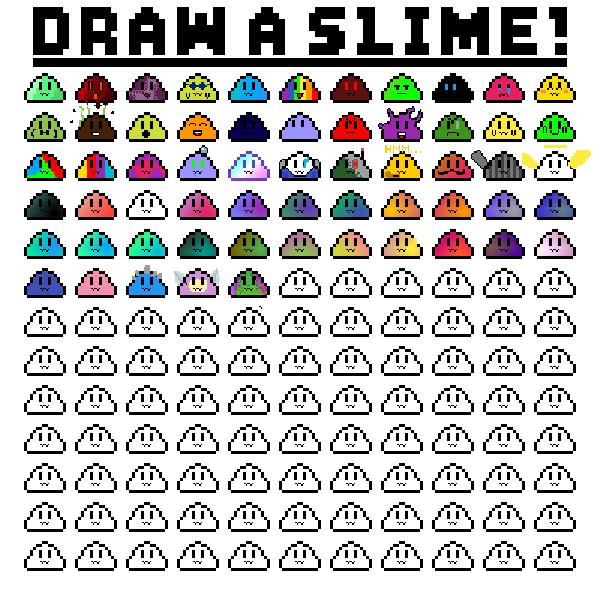 Draw slimes!