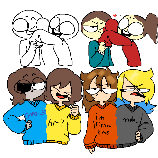 the people on the top right are my friend@redflamewolf
