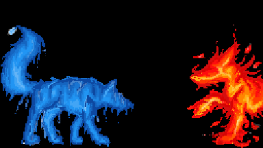 Spirit Wolves of the Elements