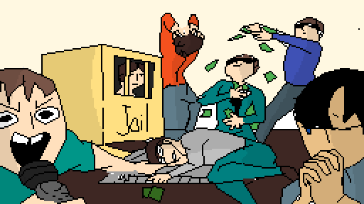 Tha gang playing monopoly