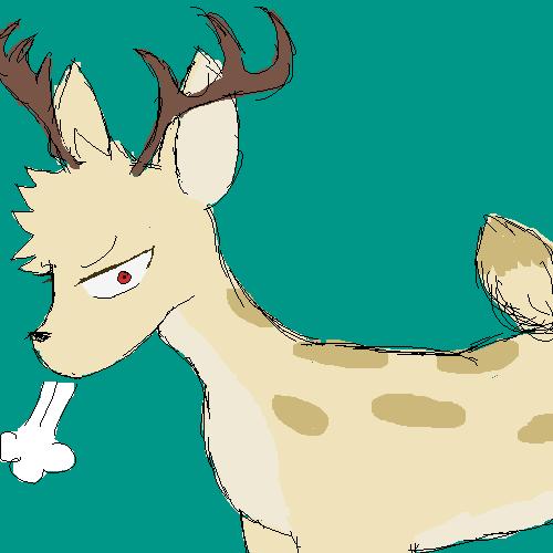 i made bakugou a deer just because