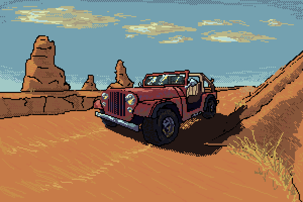 Wild Jeep In Its Natural Habitat