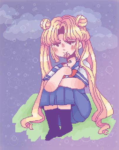 ‧͙⁺˚*☾sailor moon doodle 2☽*˚⁺‧͙