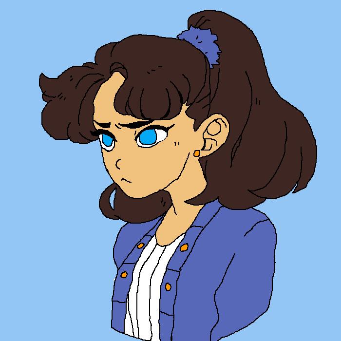 scowly girl